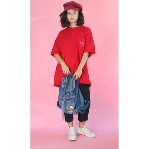 VTG 1990s Grunge Tweety Bird Jean Backpack